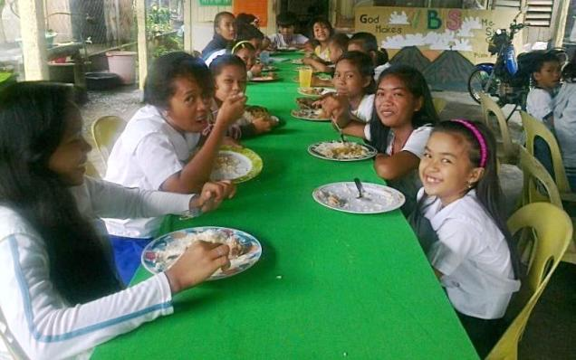 Lunch time at Kids Freedom Center